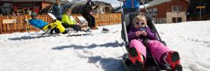 vacances au ski avec un bebe
